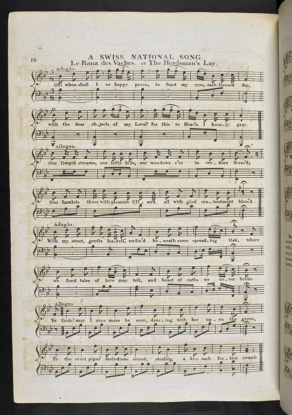 National Airs for the harp or pianoforte by Edward Jones, Musical Curiosities: or a selection of the most characteristic national songs and airs