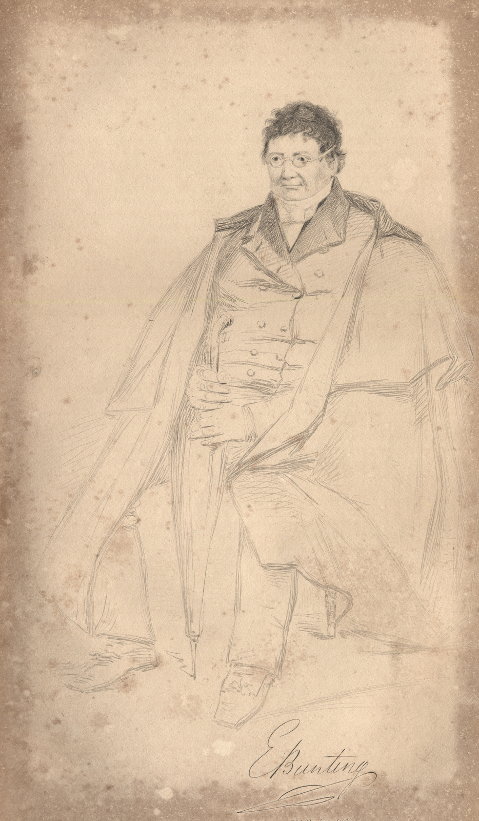 Portrait of Bunting, Dublin University Magazine 1847, Cropped.jpg