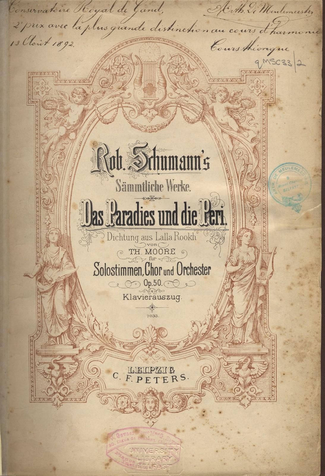 Robert Schumann, Das Paradies und die Peri