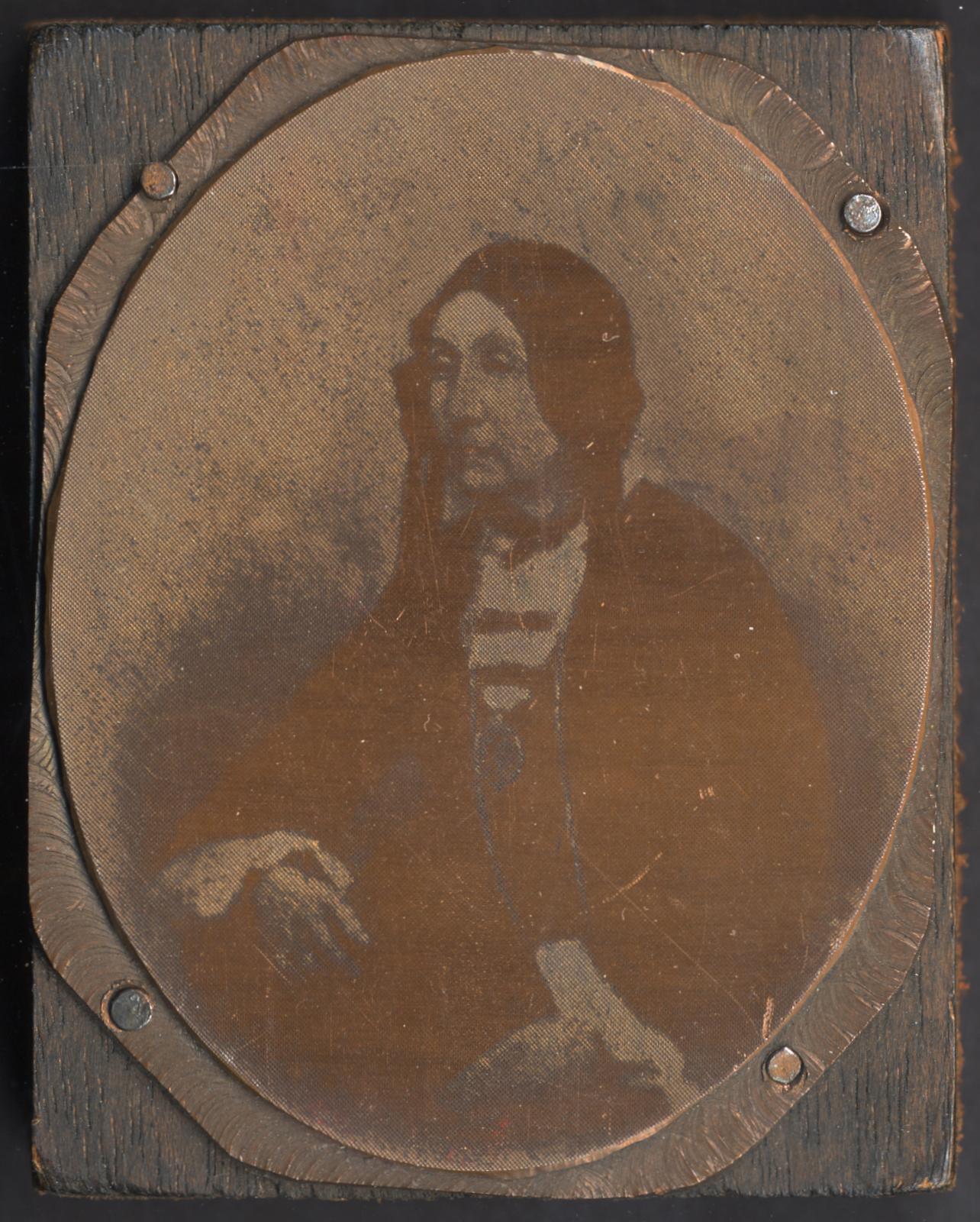MS 4/45, Half-tone woodblock of Mrs Bunting