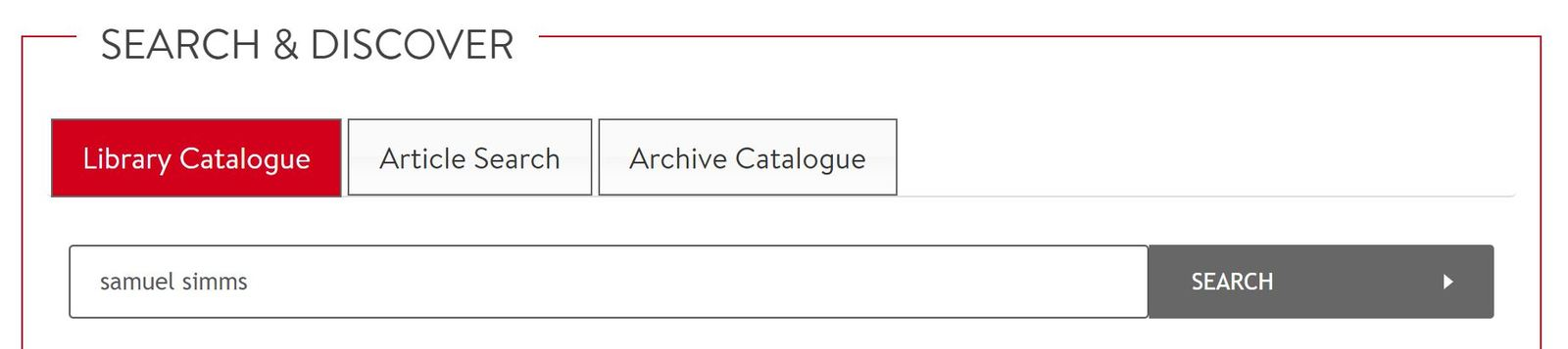 Library Catalogue, Queen's University Belfast Library