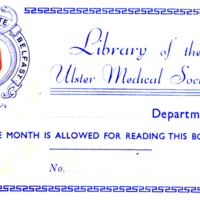 Deaver, John. Surgical anatomy  a treatise on human anatomy (1899). Vol. 1 Book stamp of library of Ulster Medical Society.jpg