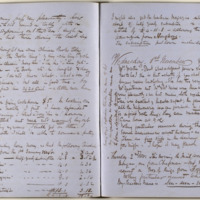 Diary pages from the Hart Collection MS 15/1