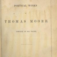 Poetical works of Thomas Moore complete.Longmans, 1853.Title-page.jpg