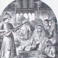Feramorz sings to Lalla Rookh and her retinue