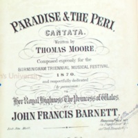 John Francis Barnett, Paradise and the Peri