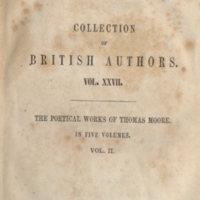 Poetical works of Thomas Moore.Leipzig Tauchnitz, 1842.Series title.jpg
