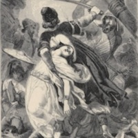 Hafed with Hinda in battle, by E.H. Corbould.1860a, p. 186.jpg