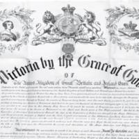 Charter granting Belfast City status, 1888