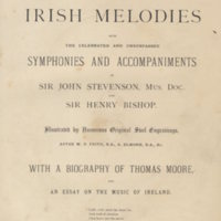Moore's Irish Melodies [music and illustrations]. London London, [1880].Title-page.jpg
