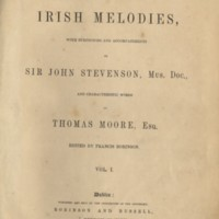 A selection of Irish Melodies ... ed. Francis Robinson.Dublin,[1865], Title-page..jpg