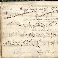 MS 4/29/159 Hempsons harp, Owen O Niels Lamentation, Carolans Composition