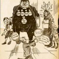 Cartoon attacking the City of Belfast Christian Civic Union, 1906