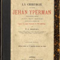 Yperman, Jan, fl. 1310., La chirurgie de maitre Jehan Yperman  chirurgien belge (XIIe-XIVe) (Simm RD25 YPER) - Cover.jpg