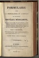 Formulaire pour la préparation et l'emploi de plusieurs nouveaux médicamens (5. éd. rev. et augm.)