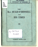 The Rev. Hugh O'Donnell and his times